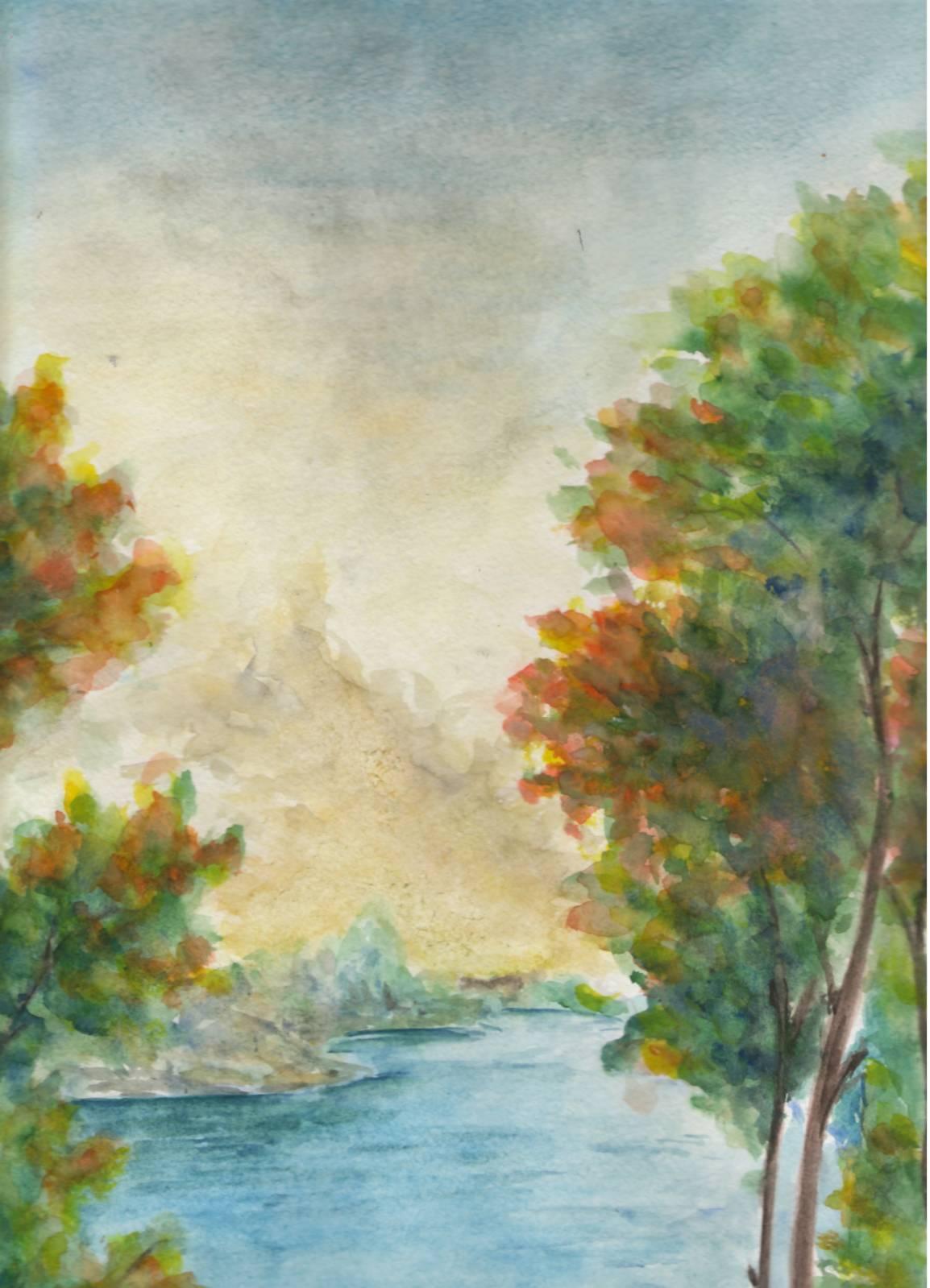 Рисунок наступила осень 4